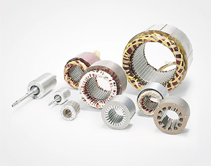wound stator and rotor packs